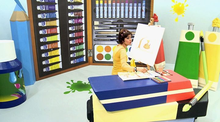 On the set of Little painter, a Farsi program for children