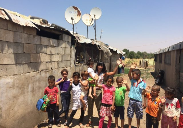 SAT-7 Deputy CEO at a refugee camp in the Middle East